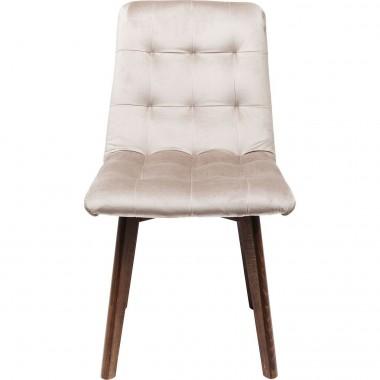Cadeira Moritz em veludo Cinzento
