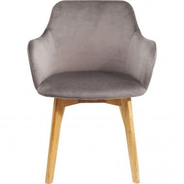 Chaise avec accoudoirs Lady grise Kare Design