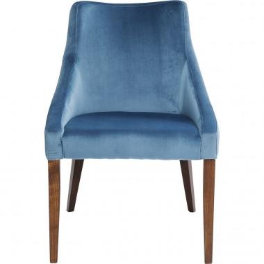 Chaise Mode velours bleu pétrole Kare Design