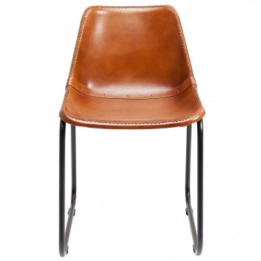 Cadeira Vintage em pele Castanha