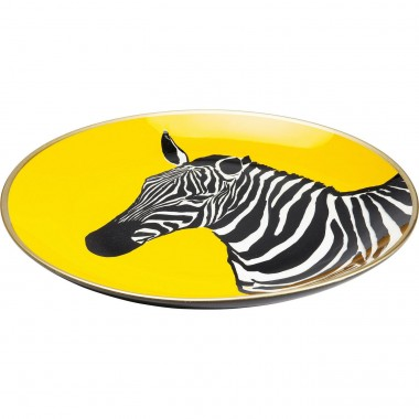Plat Zebra jaune 30cm Kare Design