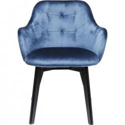 Cadeira de braços Preto Lady Velvet Azul-83409 (8)