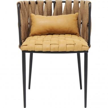 Cadeira de braços Cheerio Amarela incl. Almofada