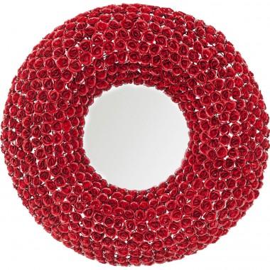 Espelho Rose Vermelho Ø100cm