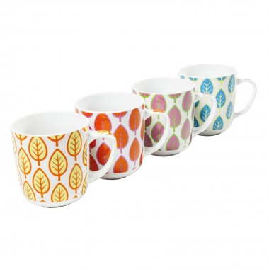 Tasses Leaf assorti Set de 4 Kare Design