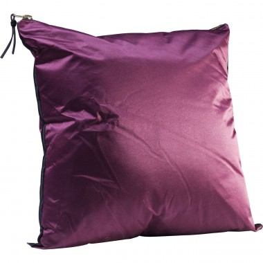 Almofada Zipper roxa 45x45cm