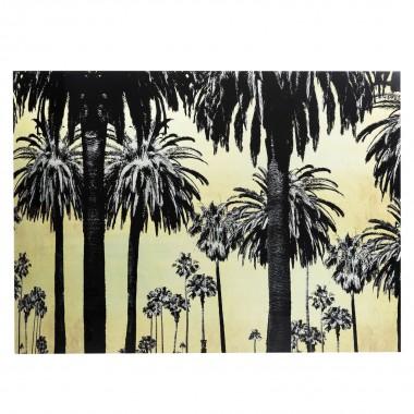 Quadro de Vidro Metallic Palms 120x180cm