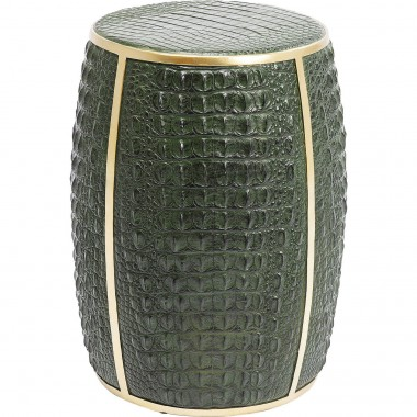 Table d'appoint Croco vert 46cm Kare Design