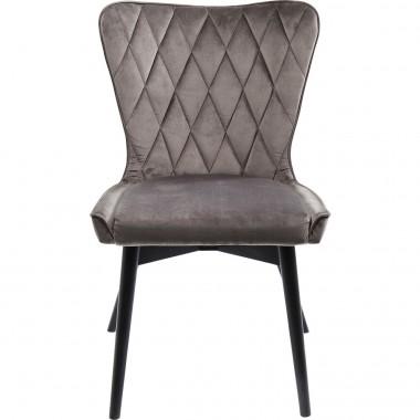 Cadeira Marshall em veludo Cinzento