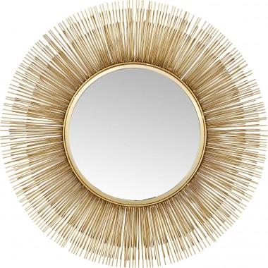 Espelho Sunburst Tre Dourado Ø87cm