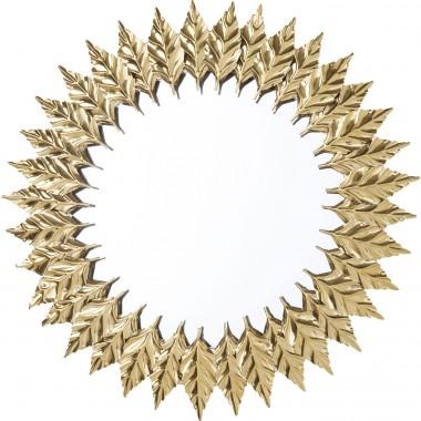 Espelho Leaves Dourado Ø76cm