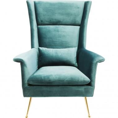 Fauteuil Vegas Forever bleu-vert Kare Design