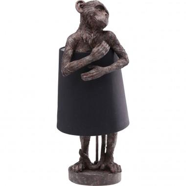 Candeeiro de Mesa Animal Monkey Castanho Preto