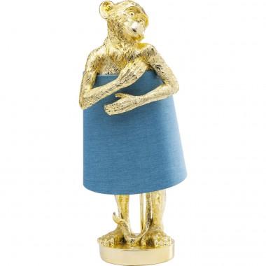 Candeeiro de Mesa Animal Monkey Gold Azul