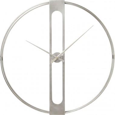Relógio de Parede Clip Prateado Ø60cm