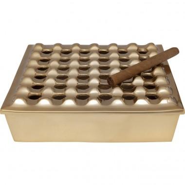 Cinzeiro Soho Square Brass 25x25cm-61676 (4)