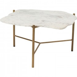Mesa de Centro Piedra Branco 76x72cm