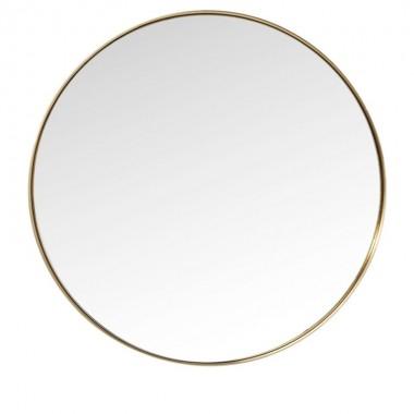 Espelho Curve Round Brass Ø100cm