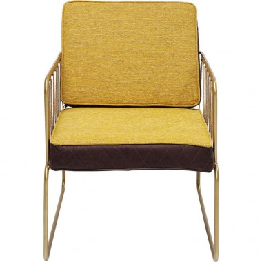 Fauteuil Cord jaune Kare Design