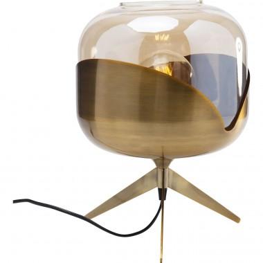 Candeeiro de Mesa Dourado Goblet Ball