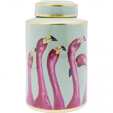 Pote Decorativo Flamingos 29cm