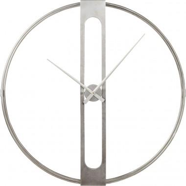 Relógio de Parede Clip Prateado Ø107cm
