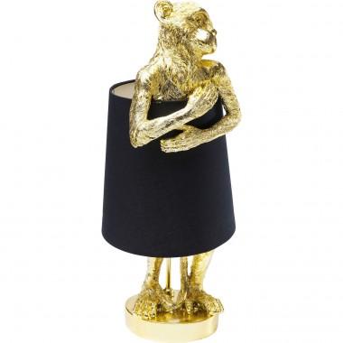 Candeeiro de Mesa Animal Monkey Gold Preto
