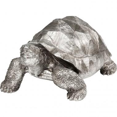 Peça Decorativa Turtle Prateado Medium