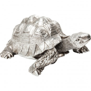 Peça Decorativa Turtle Prateado Small