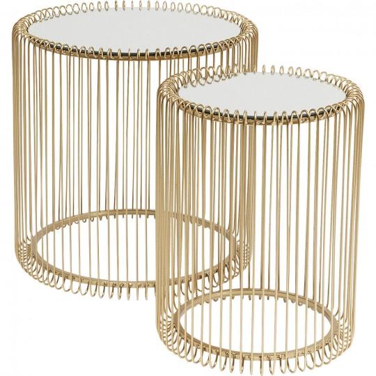 Mesa de Apoio Wire Brass (conj.2) Ø44cm-83457 (12)