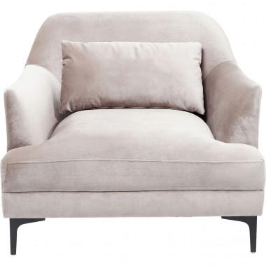 Fauteuil Proud velours gris Kare Design