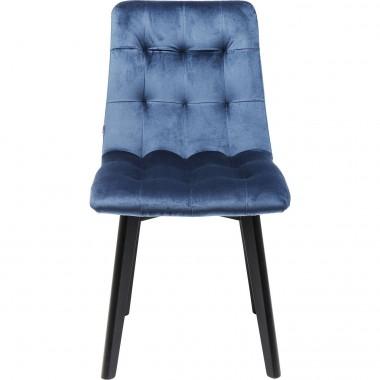 Cadeira Moritz c/ pés pretos em veludo Azul