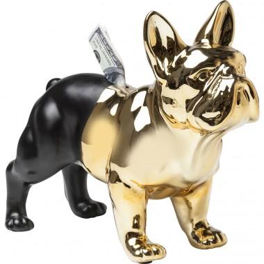 Mealheiro Bulldog Dourado/Preto
