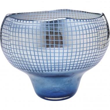Vaso Grid Luster Azul 28cm