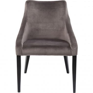 Cadeira Mode em veludo Cinzento