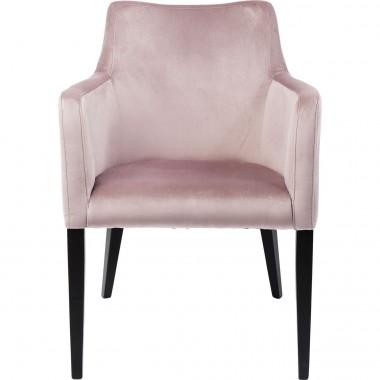 Cadeira de braços Mode em veludo Malva
