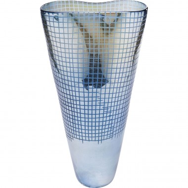 Vaso Grid Luster Azul 48cm