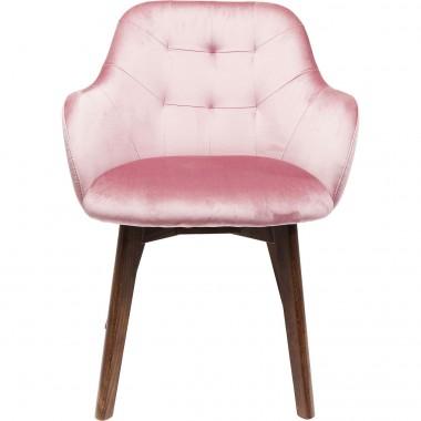 Cadeira de braços Lady em veludo Malva-83411 (10)
