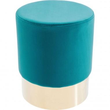 Tabouret Cherry bleu pétrole et laiton Kare Design