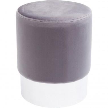 Tabouret Cherry gris clair et chrome Kare Design