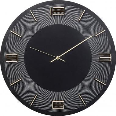 Relógio de Parede Leonardo Preto/Dourado