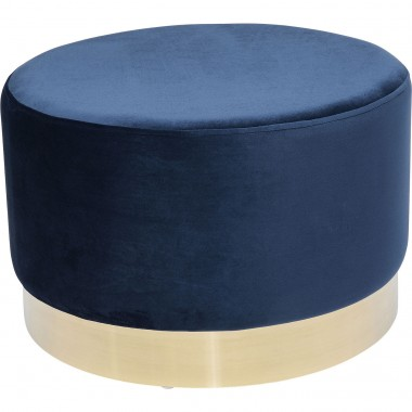 Tabouret Cherry Eclipse bleu pétrole et laiton Kare Design