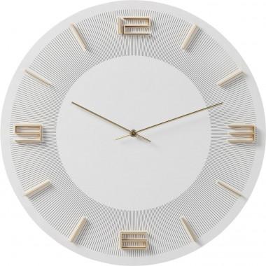 Relógio de Parede Leonardo Branco/Dourado