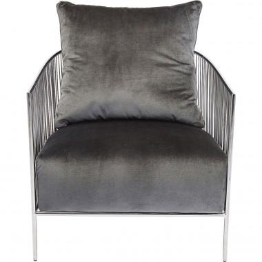 Fauteuil Sorento gris Kare Design