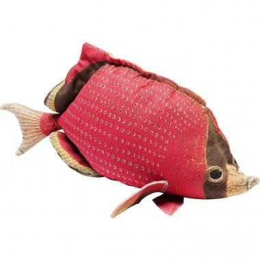 Almofada Shape Fish Dots vermelho 33x62cm