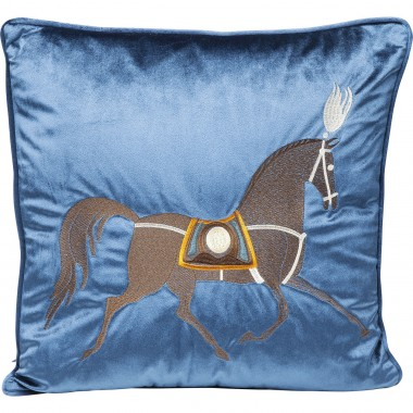 Almofada Classy Horse Azul 45x45cm