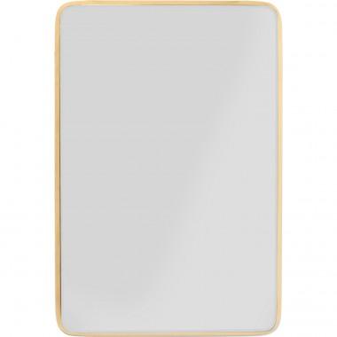 Espelho Jetset Square Dourado 94x64cm