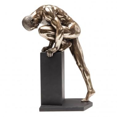 Peça Decorativa Nude Man Stand Bronze 35cm