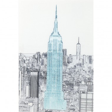 Quadro de Vidro Drawing Empire State Building 120x8-51206 (7)