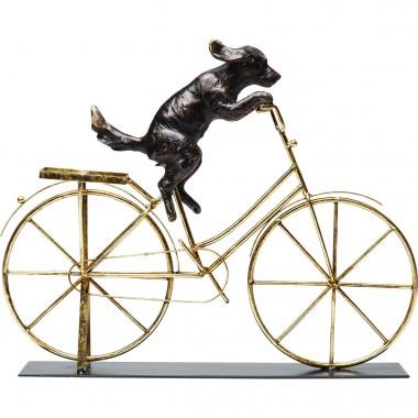 Peça Decorativa Dog With Bicycle
